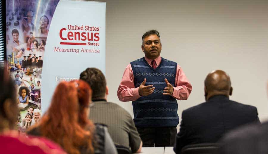 US census worker training session
