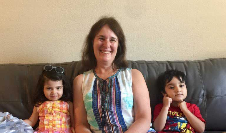 Julia Lockwood and children
