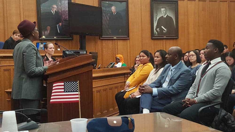 Wilson Kubwayo in audience at citizenship ceremony