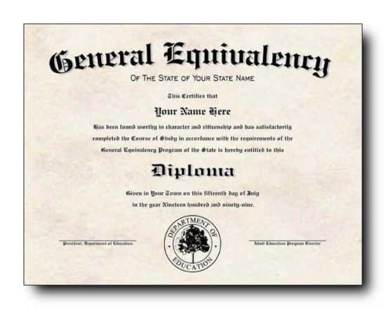 Ejemplo de certificado HSE en blanco