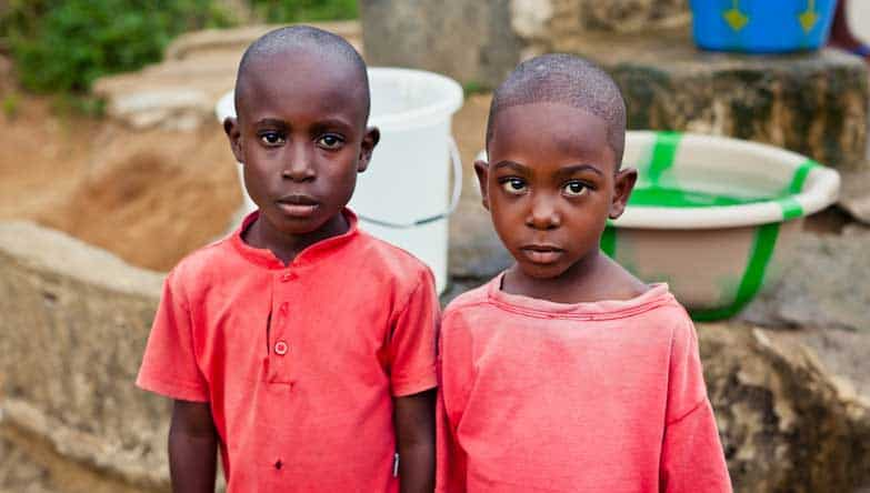Two boys in Liberia