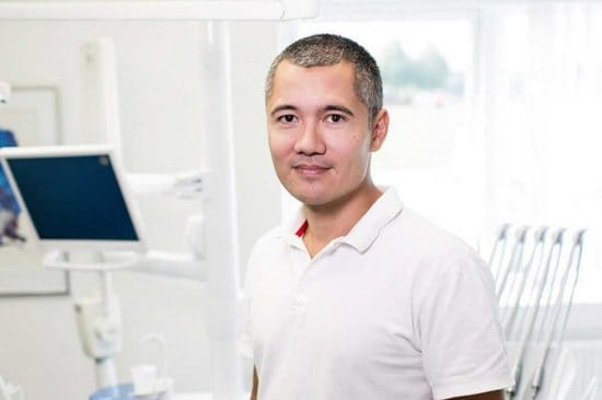 man in white shirt in medical room