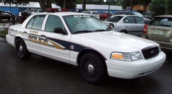 side view of police car