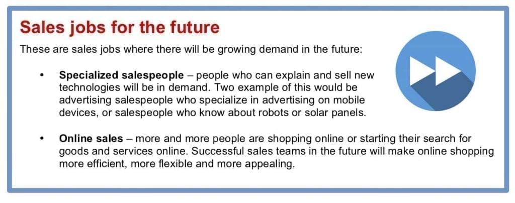 list of future sales jobs