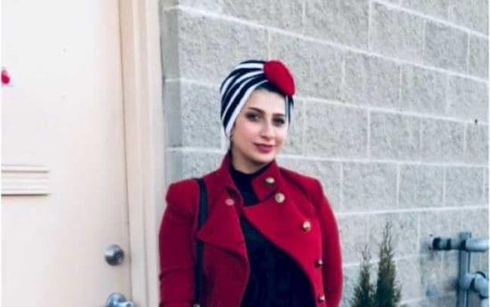 Marwah Ahmed in red jacket