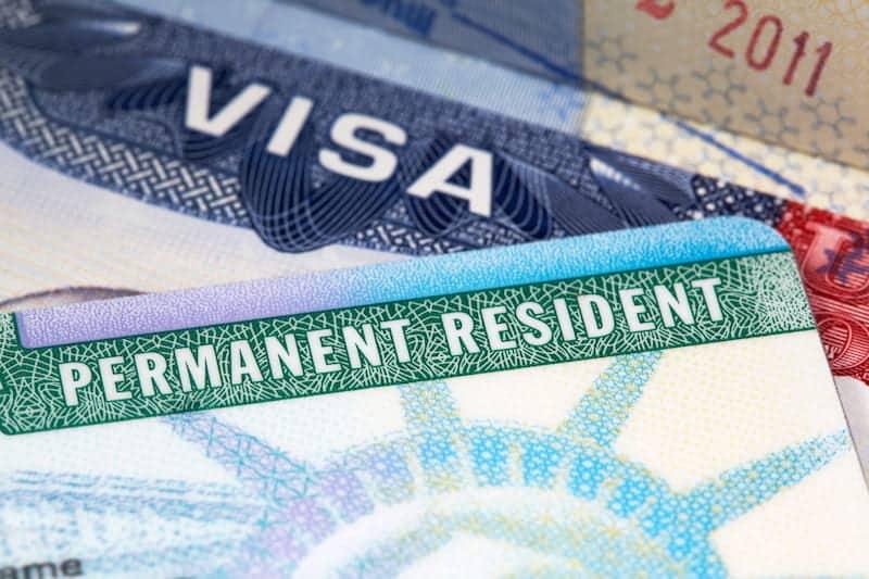 green card and US visa