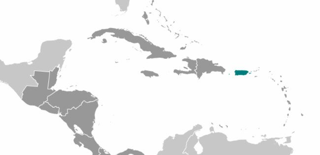 a map pf Puerto Rico