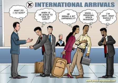 Cartoon showing different cultural styles