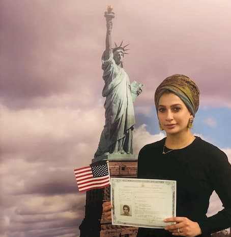 Marwah at citizenship interview