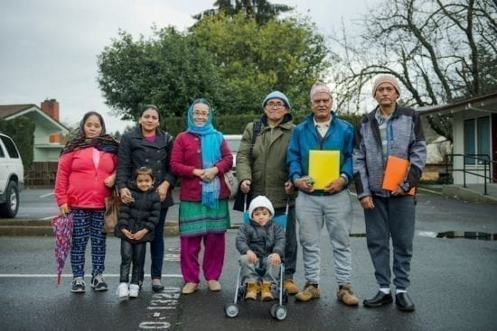 group of 8 refugees of mixed ages