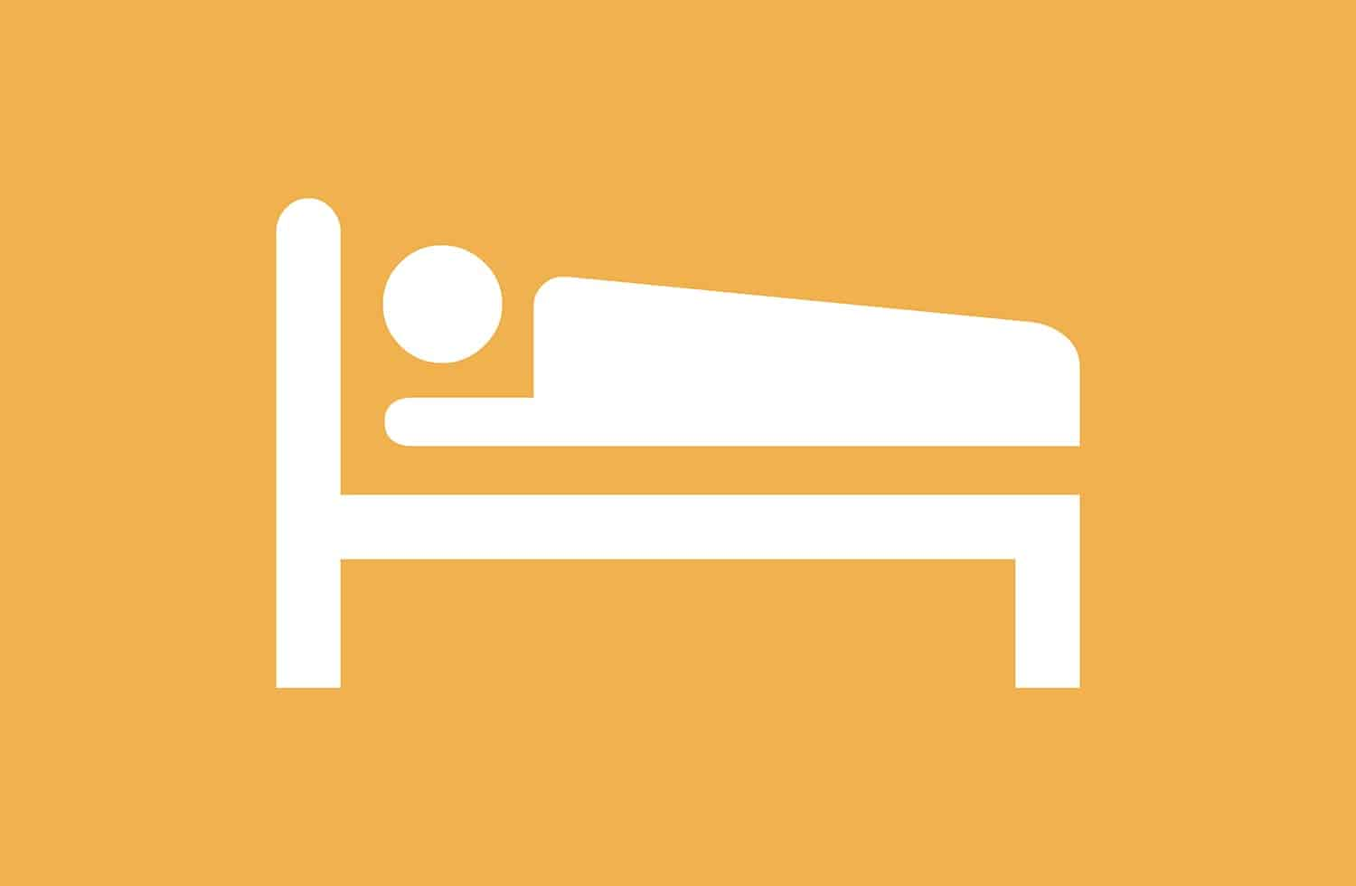 illustration of someone sick in bed