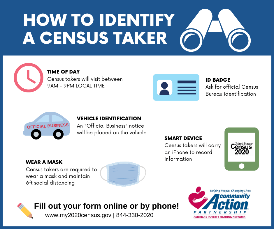 How to identify a census worker infographic