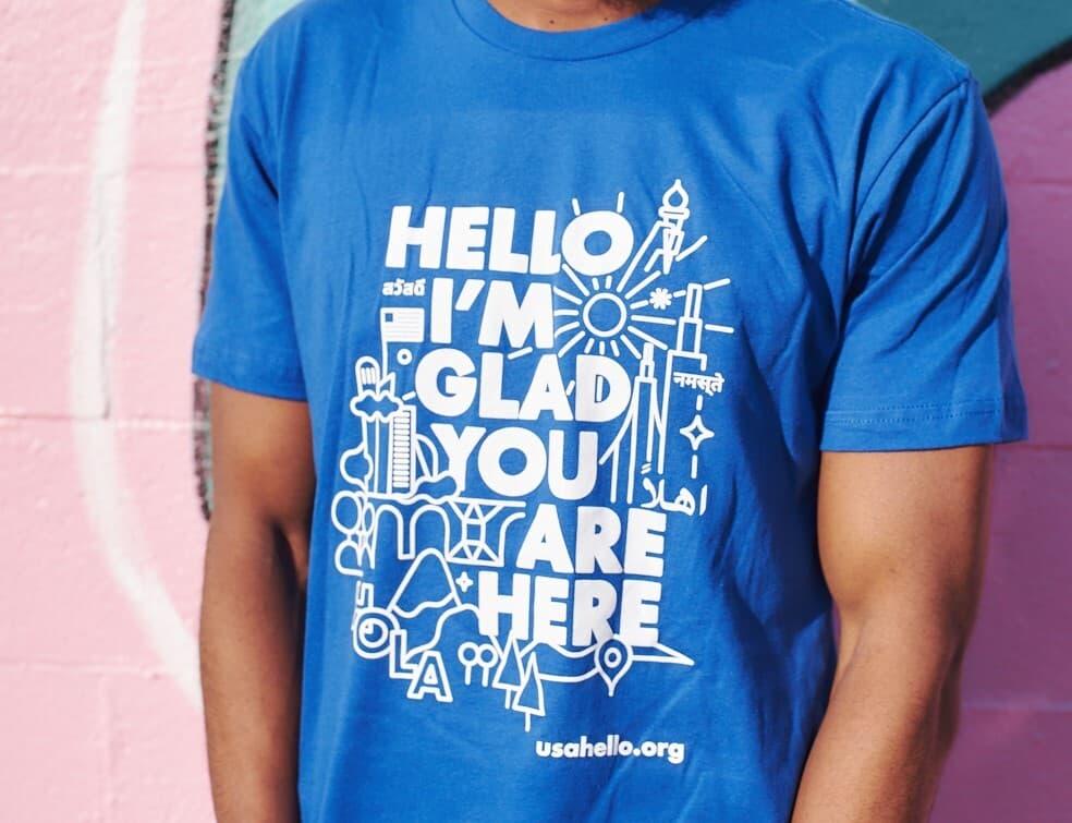 USAHello Welcome t-shirt