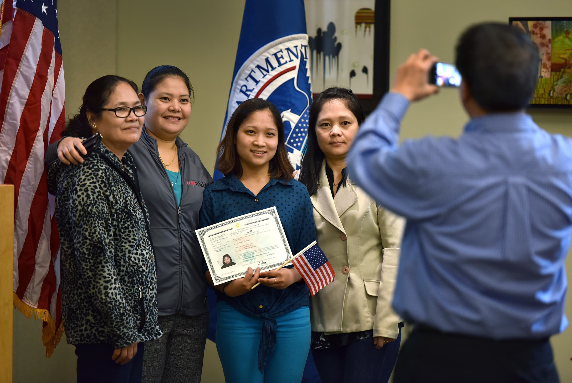 Family naturalization certificate