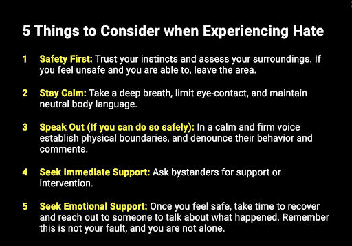 5 Things to Consider when Experiencing Hate