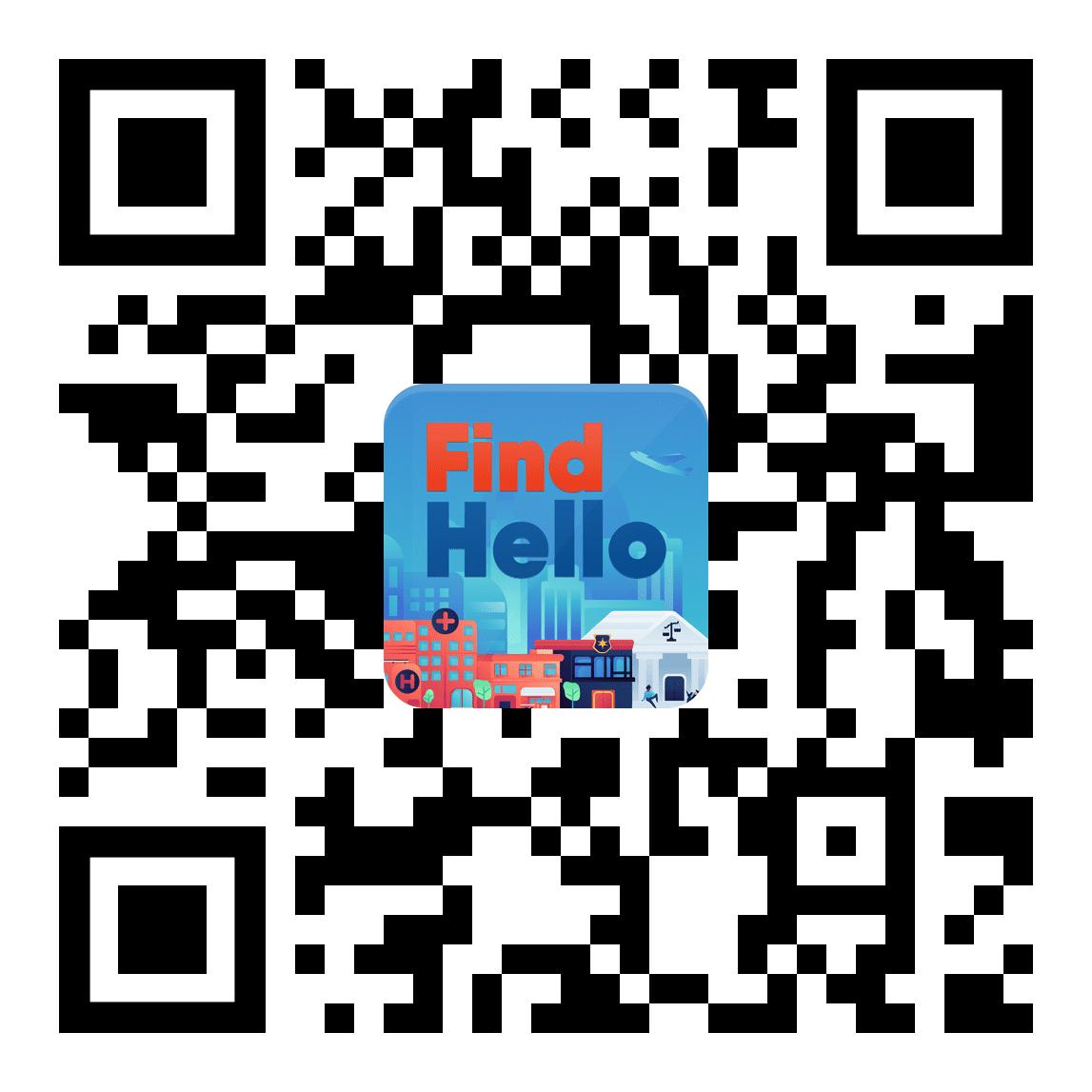 FindHello QR Code