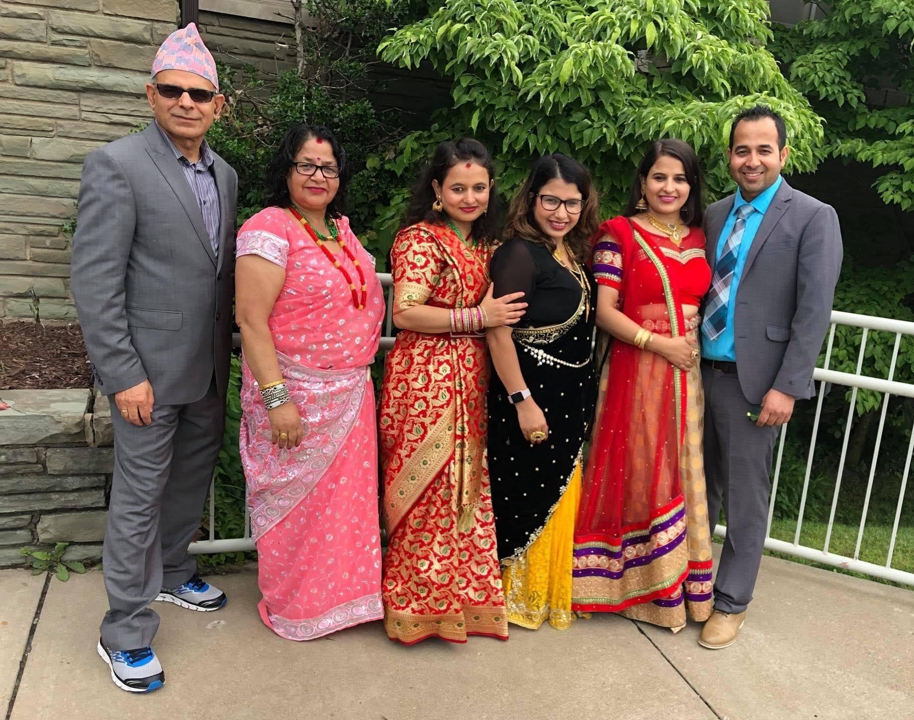 Jawala Regmi and family