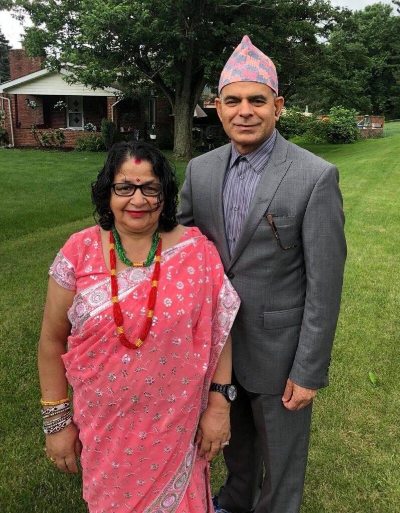 Jawala Regmi and his wife Goma